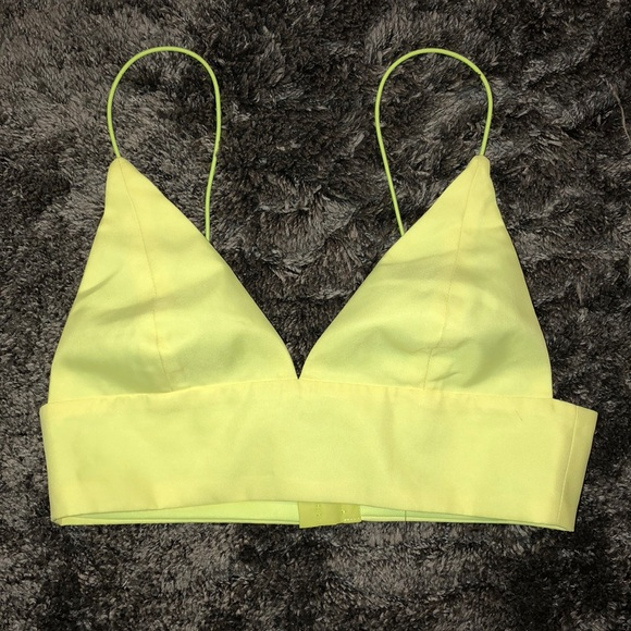 a3275bc7e4d Neon yellow crop top. M_5a83793af9e501a159847fc0